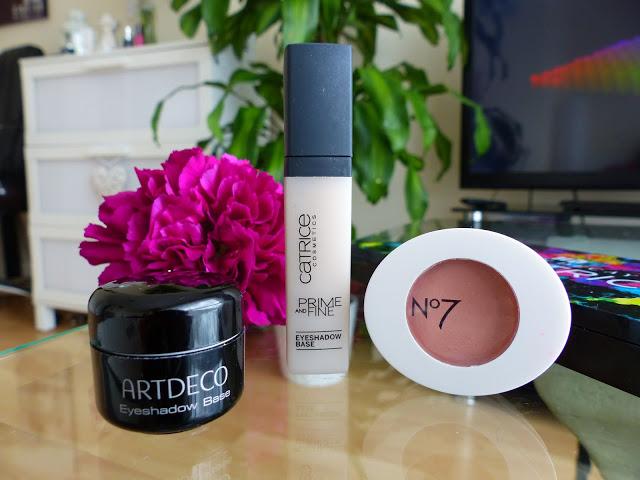 Eyeshadow Base Review - Artdeco, No 7, Catrice - Ela Lis Make-Up