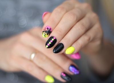 Palm Nails - Kanaryjska Zieleń, Czerń i Palemka | Ela Lis Make-Up