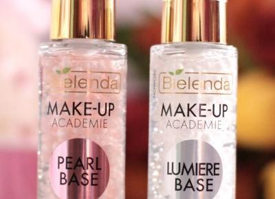 Bielenda Makeu-Up Academie - Pearl Base kontra Lumiere Base  | Ela Lis Make-Up