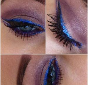 Carnival Make-up! Electric Blue Eyeliner!