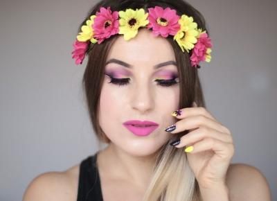 GoodBye Summer - Colorful Neon Makeup | Ela Lis Make-Up