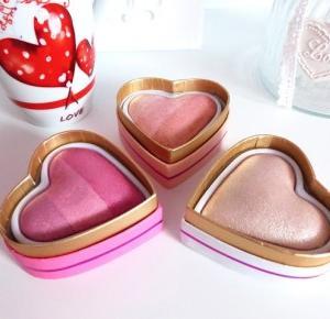 Mekup Revolution Goddess of Love, Iced Hearts, Peachy Pink Kisses - Recenzja serduszek - Ela Lis Make-Up