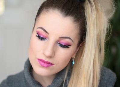 Na Różowo i na Niebiesko - Urban Decay Electric Makeup | Ela Lis Make-Up