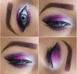 Makijaż Wieczorowy - Biel, Róż i Czerń - Ela Lis Make-Up