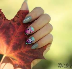 Autumn Nails - Jesienne Sówki ! - Ela Lis Make-Up