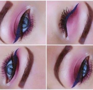 Bordo i cukierkowy Róż z Granatową kreską - Ela Lis Make-Up