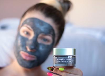 Detoksująco Rozświetlająca Maska Z Glinką od L'oreal - Recenzja | Ela Lis Make-Up