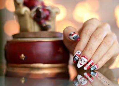 Xmas Nails - Moje świąteczne malunki - Ela Lis Make-Up
