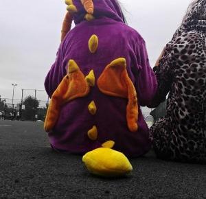 Poszłam w piżamie do szkoły.