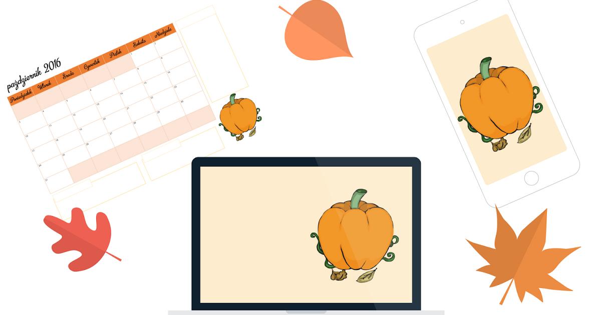 a little CUP OF ART : Starter na październik: planner do druku i tapety do pobrania