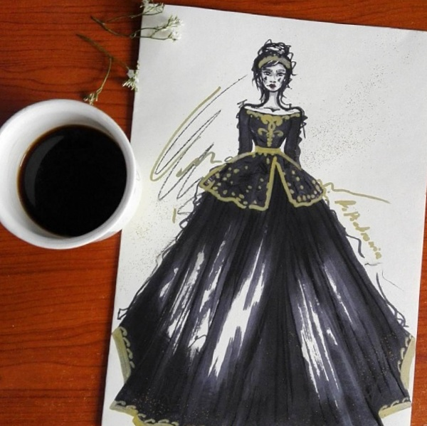 a little CUP OF ART : black dress