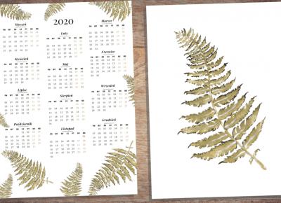 Kalendarz 2020 do druku + plakat - slow fashion | ilustracje | lifestyle