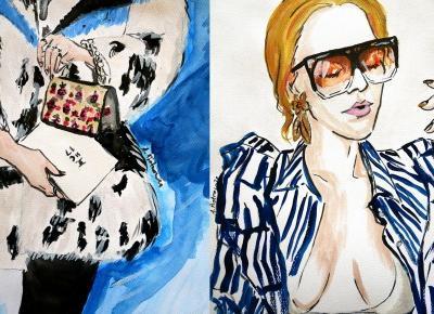 a little CUP OF ART : Ilustracje mody - podsumowanie stycznia