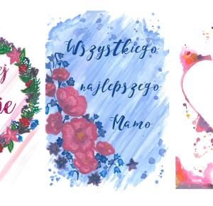 a little CUP OF ART : 3 zestawy kartek do wydrukowania na Dzień Mamy