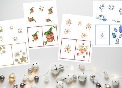 a little CUP OF ART : 4 zestawy świątecznych bilecików do druku.