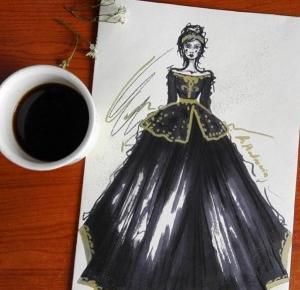 a little CUP OF ART : black dress