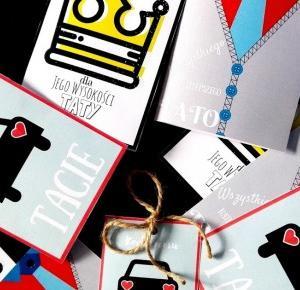"""a little CUP OF ART : 3 zestawy kartek do wydrukowania na Dzień"""" Taty"""