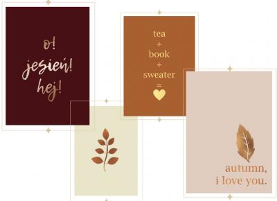 Do druku: 4 jesienne plakaty w minimalistycznym stylu