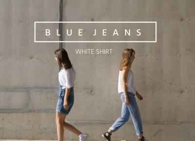 Blue jeans, white shirt - LonelyHeartsClub