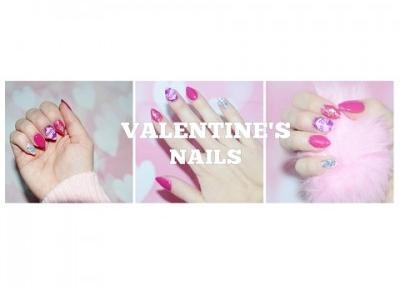 ♥♥♥PINK NAILS♥VALENTINE'S DAY♥CUTE NAILS♥PAZNOKCIE NA WALENTYNKI 2017♥♥♥