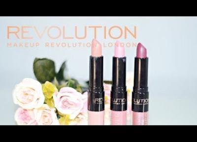 Tutorial/Makeup Revolution-Power Lipstick | Szminko-błyszczyki 2w1/SSUBTELNAA