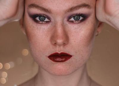 Mroczny fioletowy makijaż | Blog kosmetyczny, beauty, moda, makijaże
