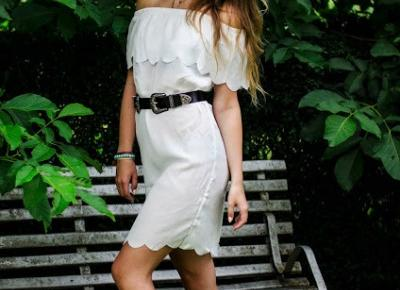 The world is my runway.: Off the shoulder white dress