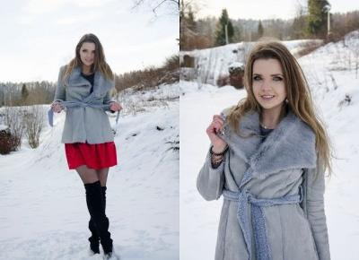 The world is my runway.: Gray coat ZAFUL