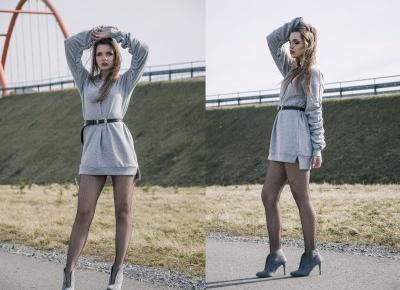The world is my runway.: Grey hoodie