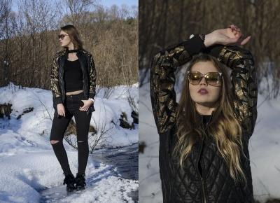 The world is my runway.: Leather Sequins Jacket