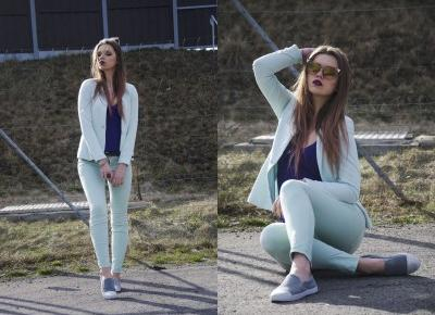 The world is my runway.: Mint outfit