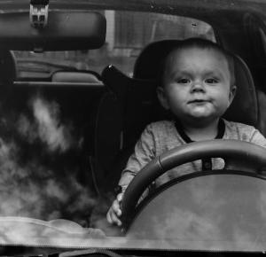 Z małym kierowcą po wyprzedaży
