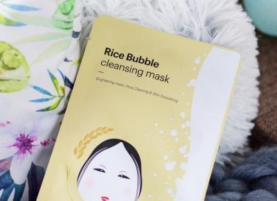 Skin79, Rice Bubble Cleansing Mask | 3w1: relaks, pielęgnacja, oczyszczanie | Mademoiselle Magdalene Blog: Uroda | Kosmetyki | Makijaż | Moda | Lifestyle