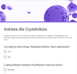blog lifestylowy : Ankieta dla czytelników