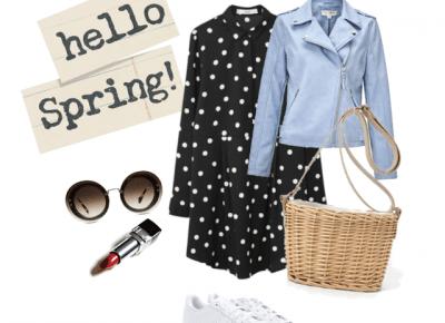 wiosenne inspiracje z wiklinowymi torebkami.