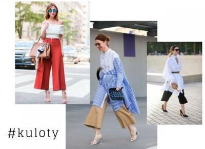 trendy: spodnie kuloty