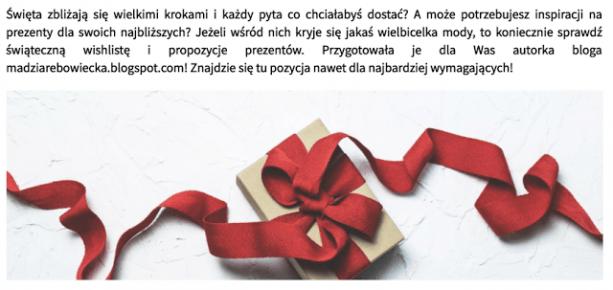 Madzia Rębowiecka: Domodi. Okiem blogera: TOP 5 prezentów dla wielbicielki mody.
