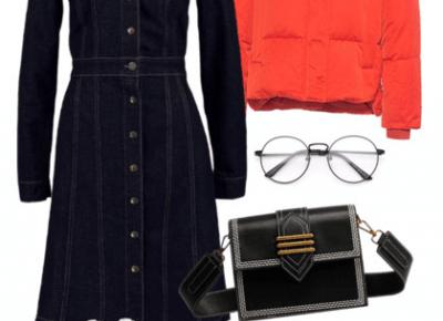 Madzia Rębowiecka: denim look - jeansowa sukienka na trzy sposoby.