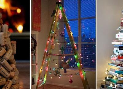 Alternatywne pomysły na świąteczną choinkę ZDJĘCIA