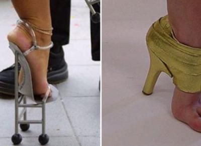 20 przedziwnych par butów, w których chodzenie wydaję się wręcz niemożliwe! #15 to lekka przesada | Popularne.pl