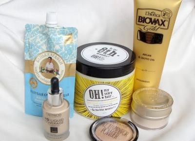 Lawendowe zapiski: Nowości kosmetyczne catrice, l'biotica,skinfood