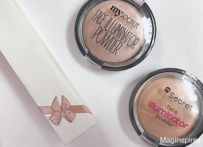 Rozświetlacze MY SECRET FACE ILLUMINATOR POWDER:PRINCESS DREAM vs SPARKLING BEIGE | MagInspires Beauty Blog