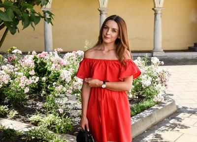 RED BARE SHOULDER DRESS - LOOK OF THE DAY FROM KRAKÓW | MAKES IT SIMPLE