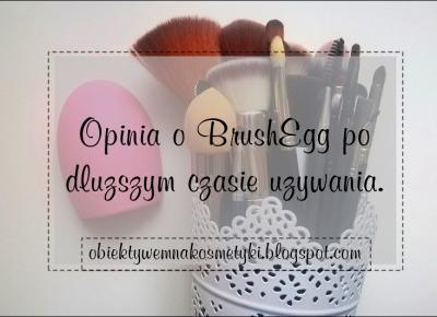Obiektywem na kosmetyki.♥: Opinia o BrushEgg po dłuższym czasie używania.