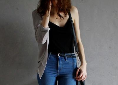 SimplyLife - Blog lifestylowy: BASICS. Idealny czarny top na ramiączkach.