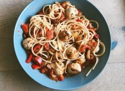 Spaghetti z klopsikami drobiowymi • Martoszka lifestyle blog