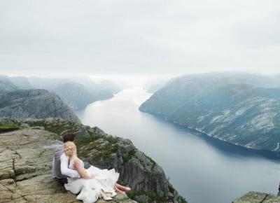 Nasz wymarzony plener ślubny na tle norweskich fiordów / Preikestolen, Songesand, Verdens Ende – Eat Make Up Dress
