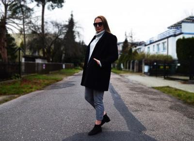 GREY SWEATER & SECOND HAND COAT - Martyna Kochanowska, czyli do something amazing