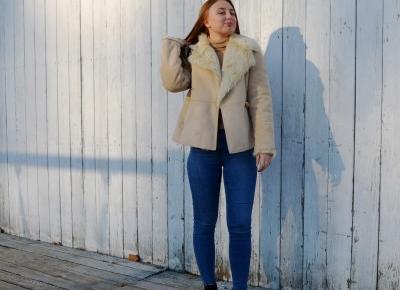 SHEEPSKIN COAT IN BEIGE | Martyna Kochanowska, czyli do something amazing
