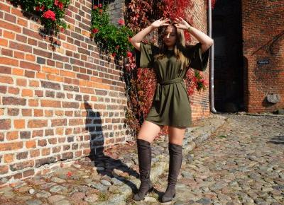 OVER KNEE BOOTS & GREEN DRESS - Martyna Kochanowska, czyli do something amazing
